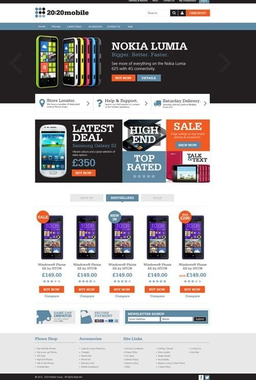 Brightstart magento theme home page