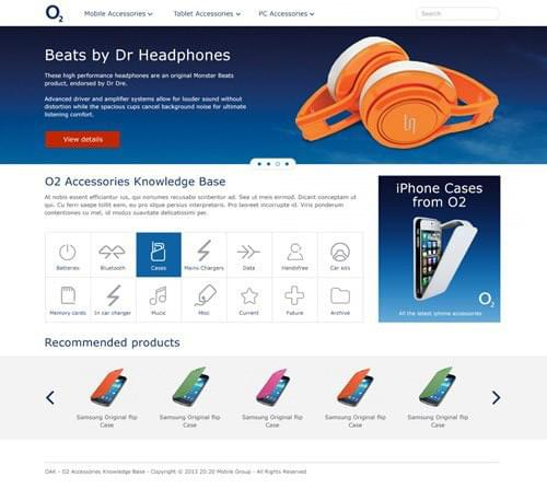 o2 home page concept one